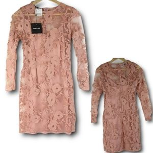 NWT Parisian Blush Floral Pop Up Dress Size 6